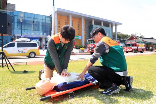 산청군 심폐소생술 교육 관련 재난대응 안전한국훈련 자료사진 3-1.jpg