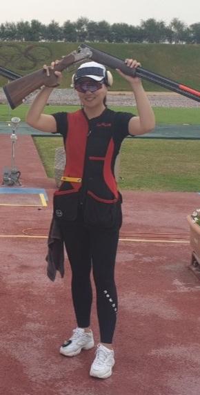 창원시청 김민지가 11일 카타르 도하에서 열린 제14회 아시아사격선수권대회 여자 스키트에서 3위를 했다./창원시청 사격팀