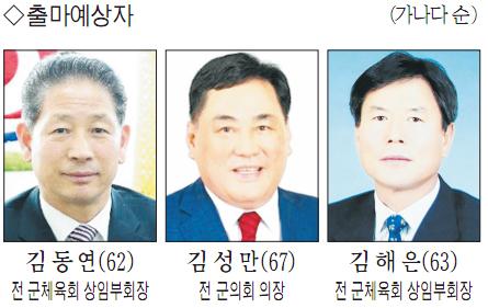 김동연(62·왼쪽) 전 군체육회 상임부회장과 김성만(67) 전 군의회 의장.