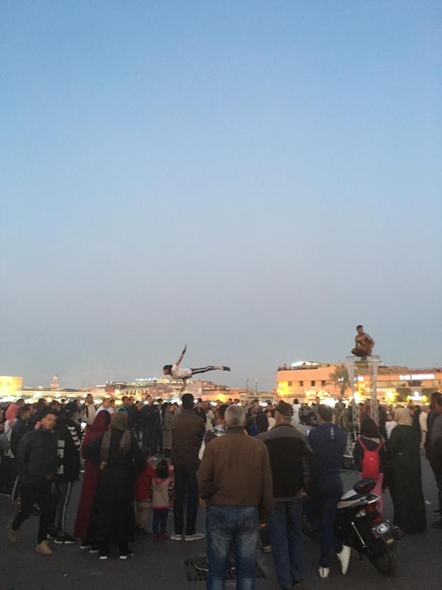마라케시의 야시장 '제마엘프나 광장'.