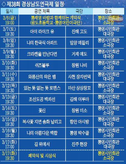 개막작 '통제영 바람'.