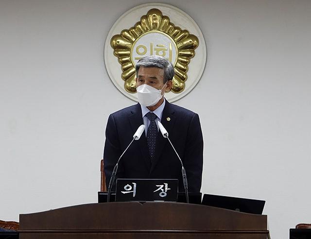 산청군의회 심재화의장 5분 발언.jpg