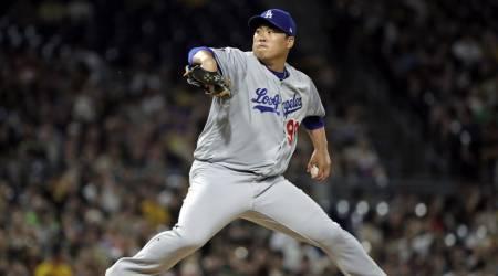 류현진, 32이닝서 연속 이닝 무실점 마감…박찬호 넘기 실패