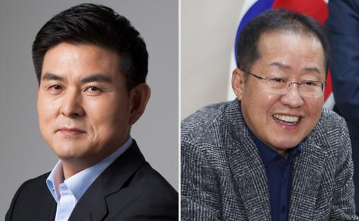 김태호 '정중동'·홍준표 '지도부 맹공'… 총선 행보 대조